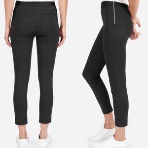 Everlane Stretch Ponte Pants Black Side Zipper 2